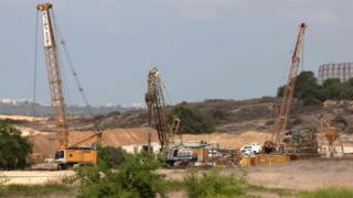 Строительство на границе с Газой