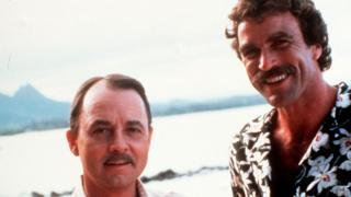 John Hillerman with Tom Selleck