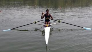Dattu Bhokanal rowing