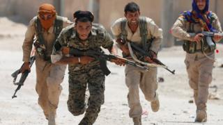 نیروهای کرد سوریه در رقه