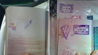 Allegedly defaced passport