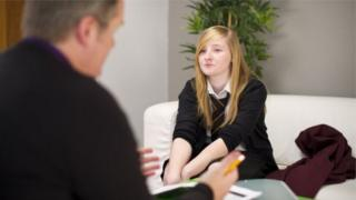 young person with counsellor