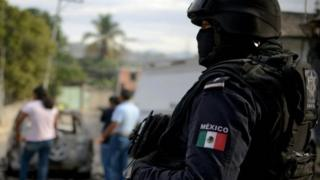 A Mexican police officer. File photo