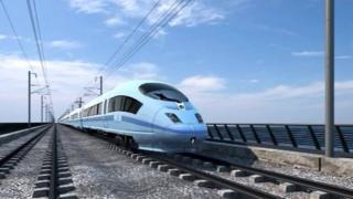 Artist impression of a high speed train