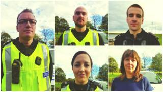 Sgt Andy Sawers, PC Kirsteen McArthur, PC Carolyn Wright, PC Calum McDougall, PC David Ritchie