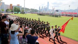 解放军驻港部队庆祝香港主权移交22周年