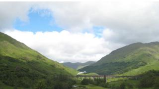David and Barbara Daly from Texas were in Glenfinnan to see the Jacobite steam train on the viaduct