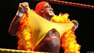 Hulk Hogan performing in 2009 in Perth