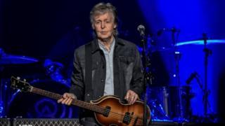 Paul McCartney performs on November 28, 2018 at the U Arena stadium in NanterrE