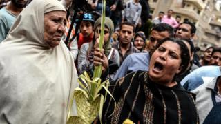 سيدة مسيحية في مصر