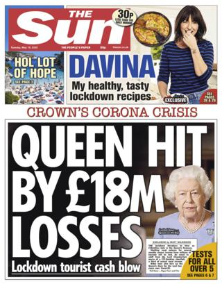 The Sun front page 19/05/20