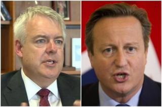 Carwyn Jones a David Cameron