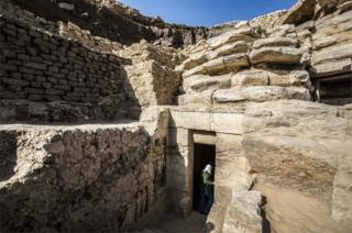 The tomb was found in a buried ridge, which may help explain why it escaped looters