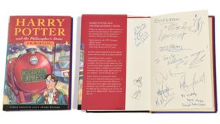The autographed Harry Potter book