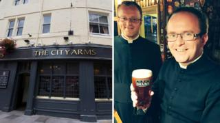 The City Arm and the priest who visited the pub