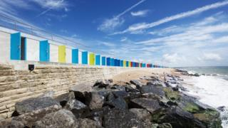 Milford-on-Sea beach huts