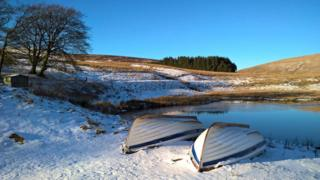 Upturned boats on the Pentland Hills