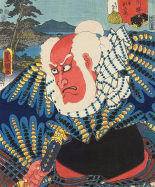 Japanese woodblock print of the Kabuki actor Ichikawa Ebizo V