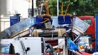 London bus bomb aftermath 7/7