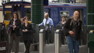 Passengers at Glasgow Central