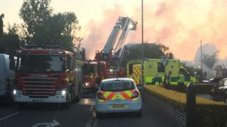 Fire crews at Oak Road in Christchurch