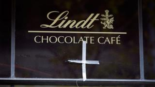 The Lindt cafe at Martin Place in Sydney, Australia where a gunman and two hostages were killed in December 2014