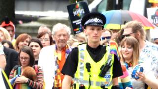 Sir Ian McKellen leads first Pride Parade in Perth