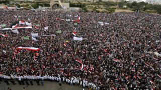تجمع حوثیها در صنعا