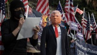 香港示威者曾发起集会,感谢特朗普签署《香港人权与民主法案》。