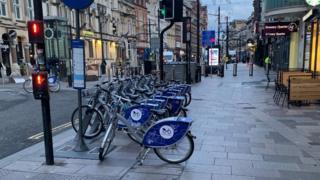 Bikes in Cardiff