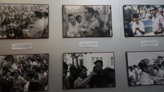 Hình chụp ở bảo tàng Bến Tre