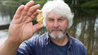 Vincent Thurkettle and his gold nugget