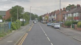 A streetview of Burnage Lane