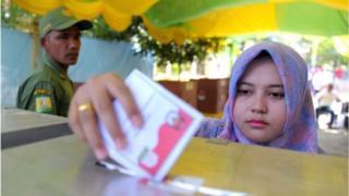 Terdapat 197 juta jumlah pemilih sementara yang diperebutkan kubu pasangan Joko Widodo-Ma'ruf Amin maupun Prabowo Subianto-Sandiaga Uno.