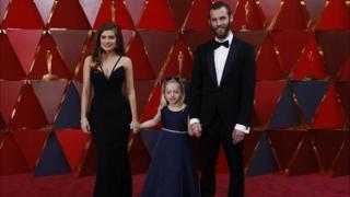 Actors Rachel Shenton, Maisie Sly and Chris Overton