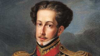 Dom Pedro 1º em retrato do pintor Simplício Rodrigues de Sá, o último dele em vida