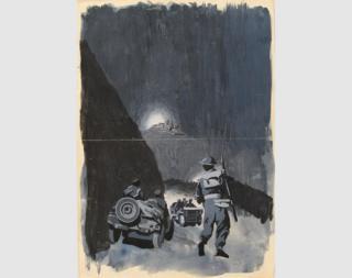 Advancing Toward Monte Cassino, 1944 (detail)