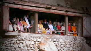 Balcony on the traditional burial site of Londa, Rantepao, Tana Toraja