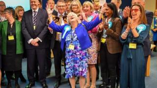 Ann Widdecombe winning