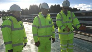 Keith Brown at Aberdeen bypass