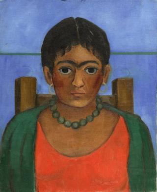 Frida Kahlo'nun Nina con collar (Kolyeli Kız) resmi