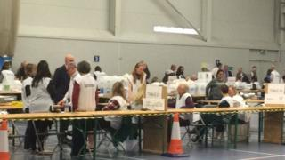 The vote count in Shropshire