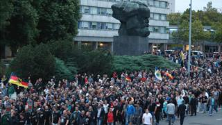 Far-right protest in Chemnitz, 27 Aug 18