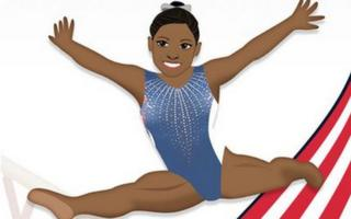 Biles has been turned into an emoji