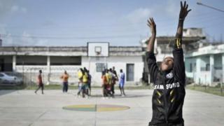 Une joueuse de basketball somalienne