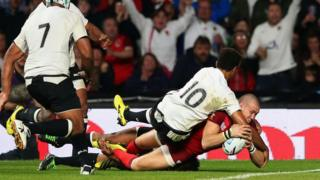 Mike Brown scores two tries for England