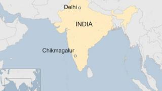 A BBC map showing the location of Chikmagalur
