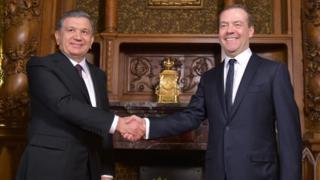 Россия Бош вазири Дмитрий Медведев билан музокара.