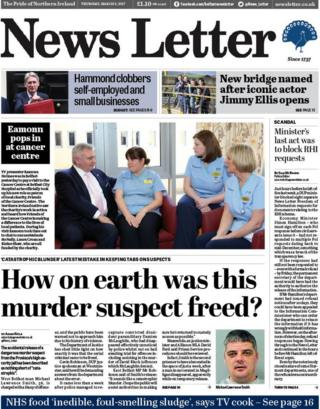 Front page of the News Letter