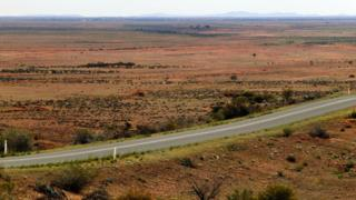 Road outside Broken Hill (file image)